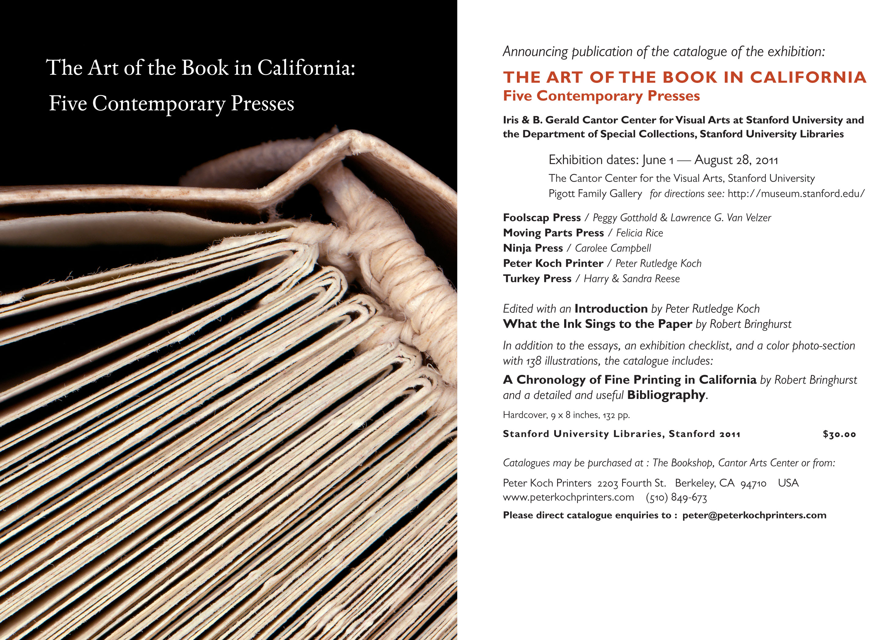 """The Art of the Book in California: Five Contemporary Presses"""